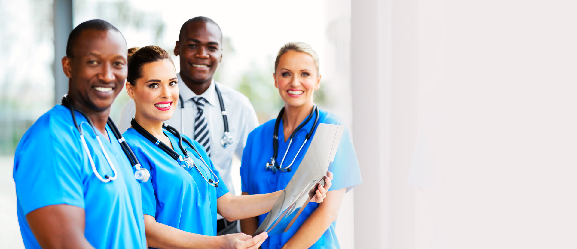 group of medical trainees smiling